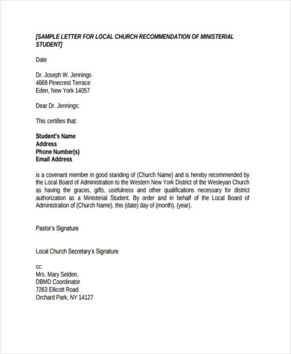 reference letter volunteer work