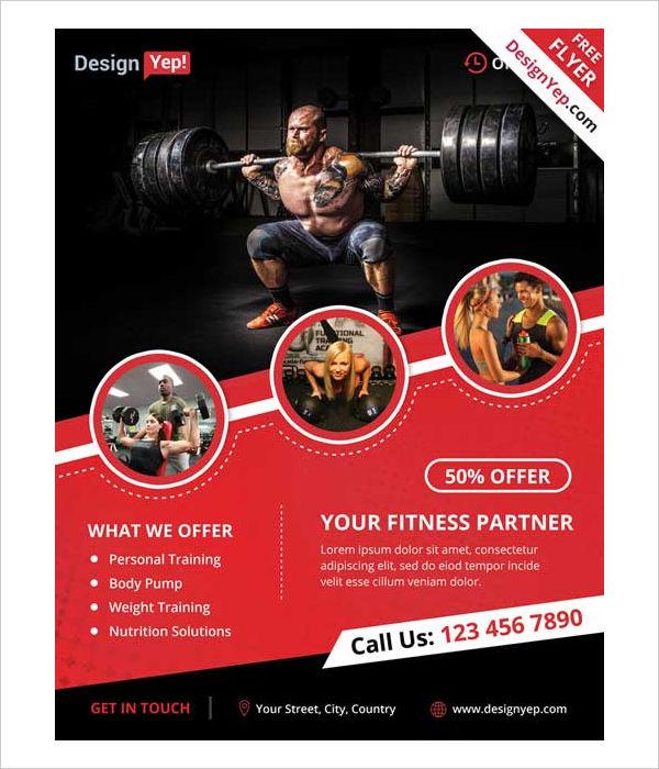 sport & fitness flyer template | datariouruguay