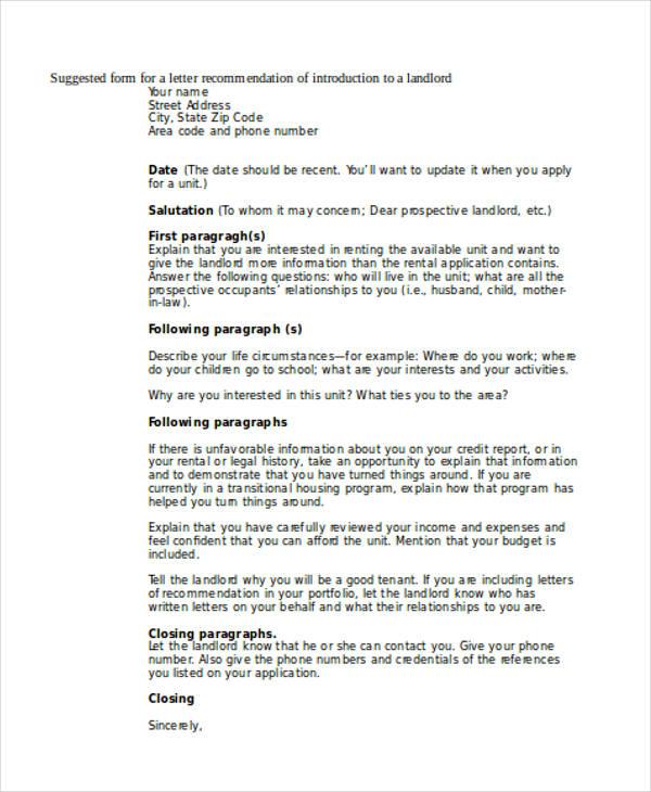 Work reference letter landlord rental recommendation letter portablegasgrillweber altavistaventures Gallery