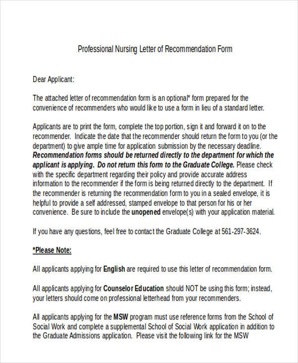 professional reference letter professional reference