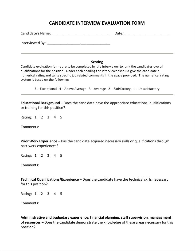 Resume For Job Interview Sample