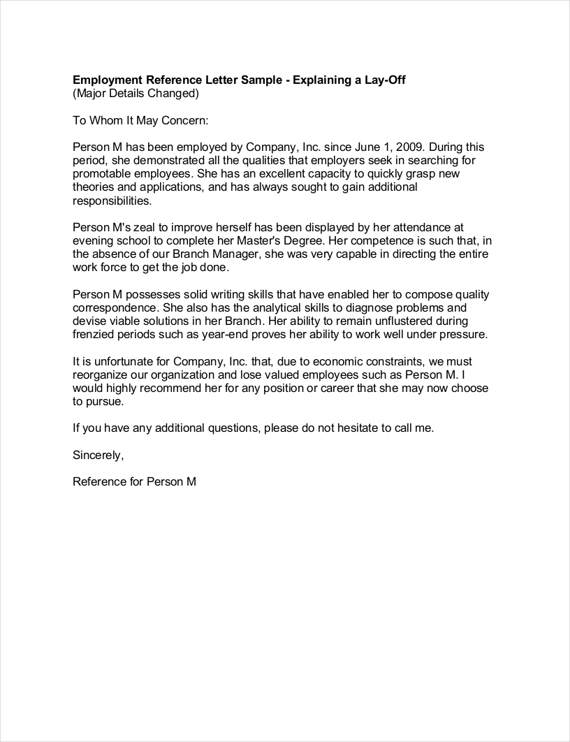 Employment recommendation letter example altavistaventures Image collections