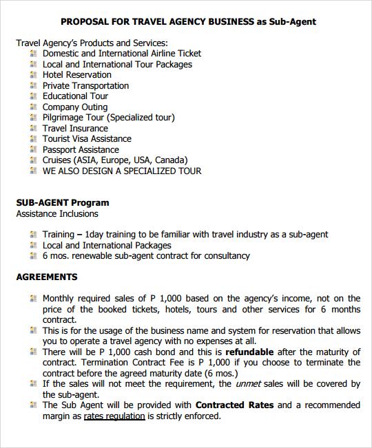 Travel Agency Proposal Letter Doc | Joshymomo org