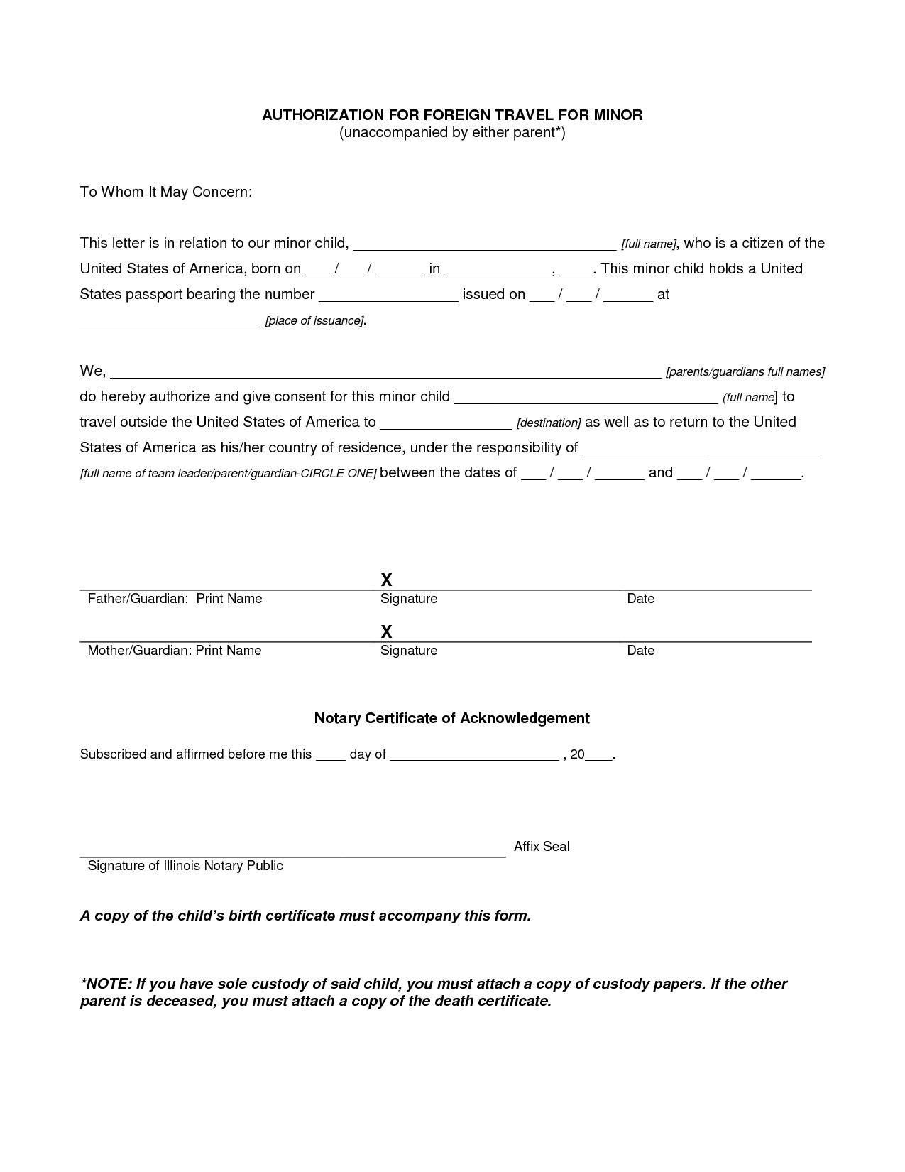 travel affidavit for minors canada anexa creancy
