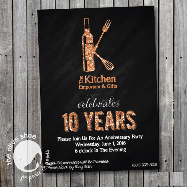 10 year business anniversary invitation