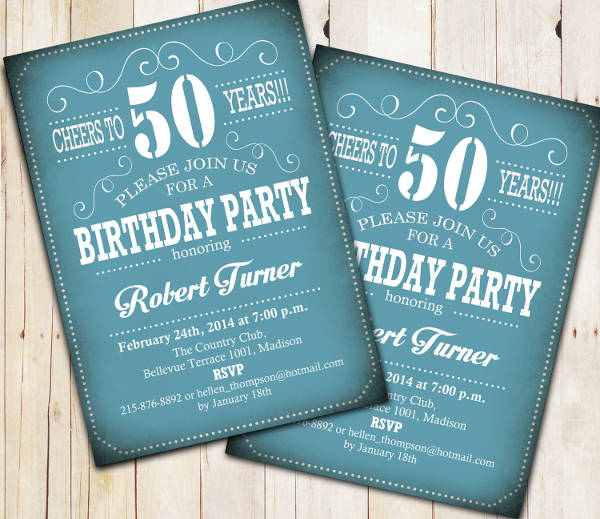 50th birthday party invitation2