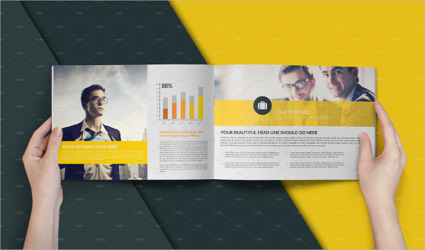 a4 business company brochure