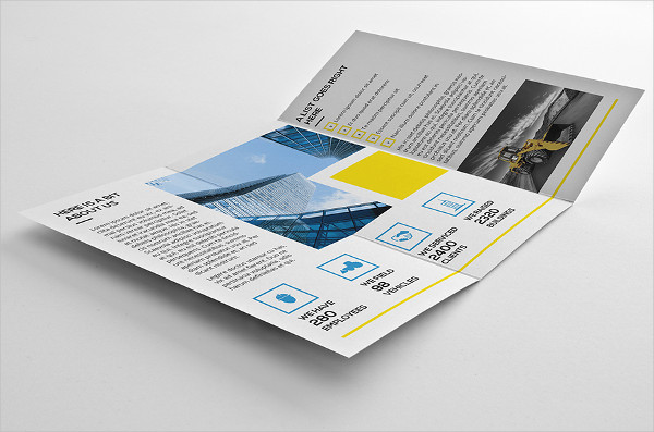 a4 construction company brochure