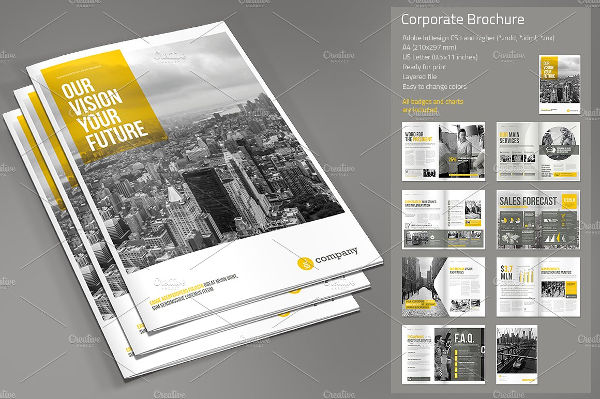 a4 corporate real estate brochure