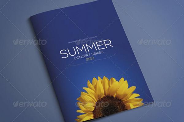 a4 event brochure