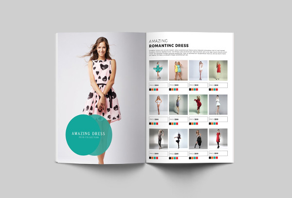 a4 fashion advertising brochure