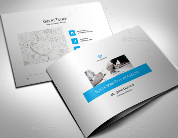 a4 landscaping business brochure