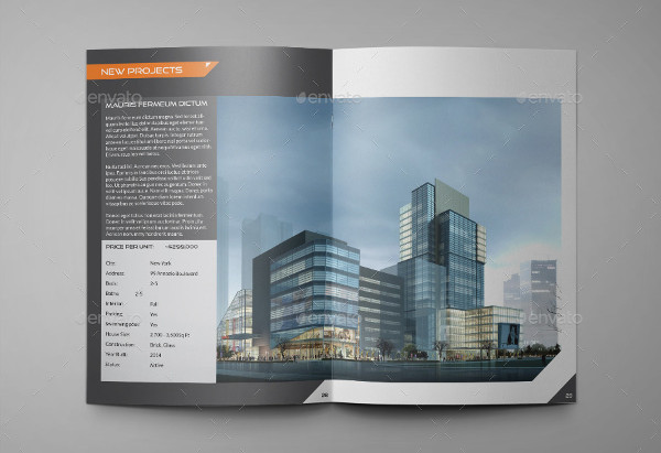 a4 real estate agency brochure