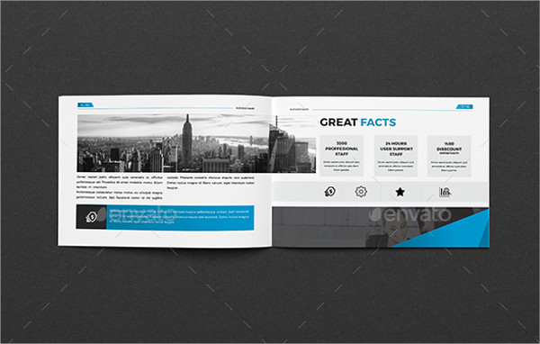 a5 business company brochure