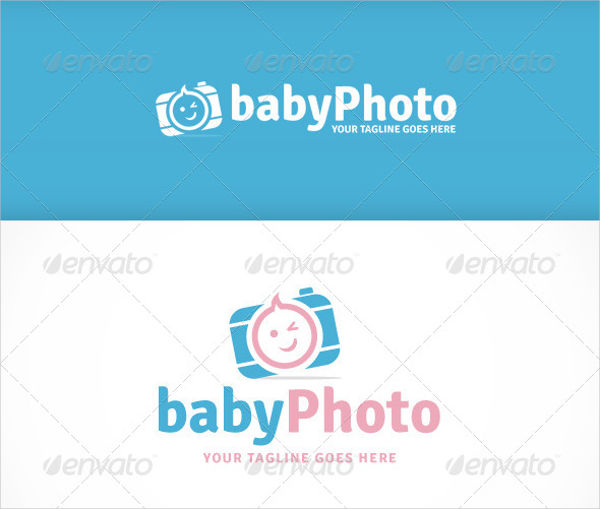 Abstract Baby Photography Logo
