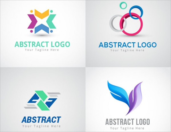 abstract corporate fashion logo