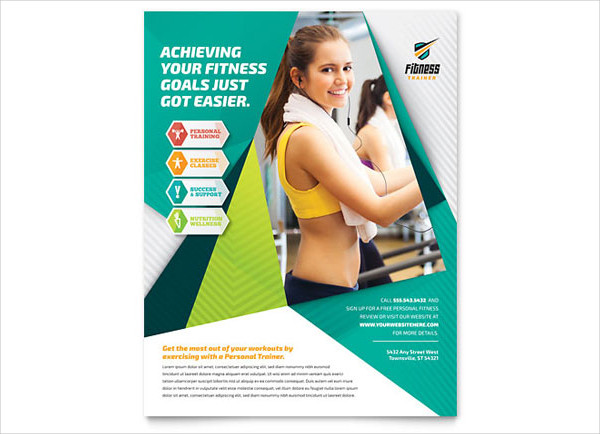 Abstract Fitness Trainer Flyer