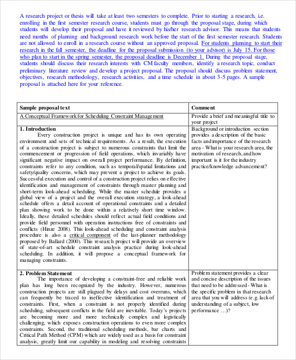 44 Project Proposal Examples Pdf Word