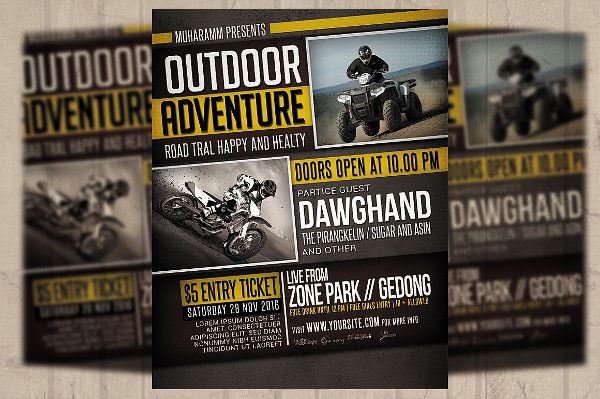 Adventure Sports Event Flyer  Event Flyer Examples