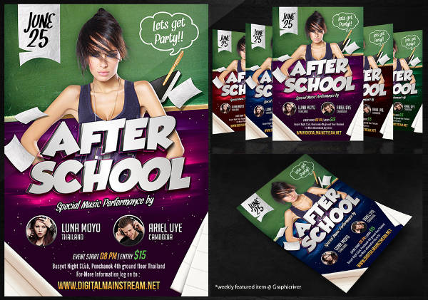 after school party flyer