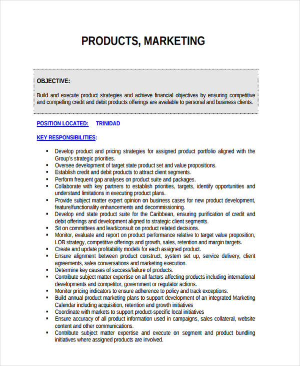 annual product marketing plan