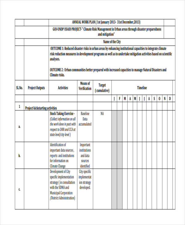 what is a work plan template - 41 work plan examples samples pdf word