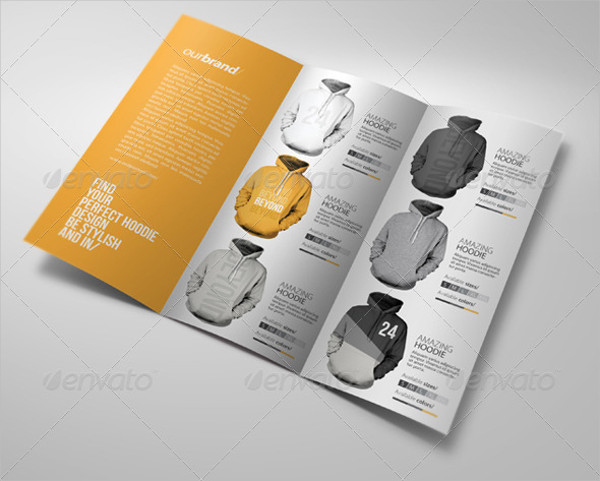 apparel tri fold psd brochure