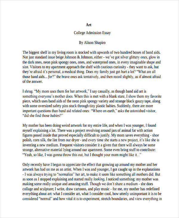 art college admission essay - Art College Essay Examples