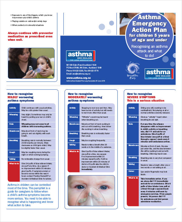 asthma emergency action plan