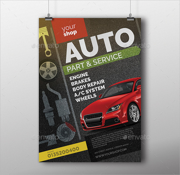 automotive car business flyer