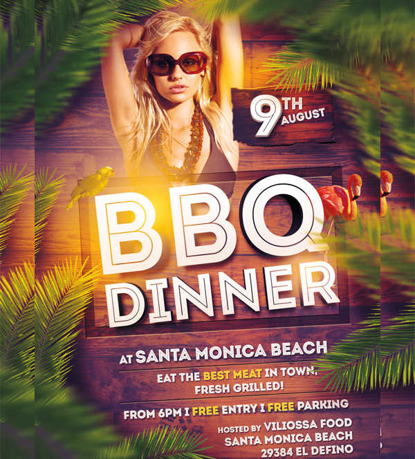 -BBQ Dinner Party Flyer