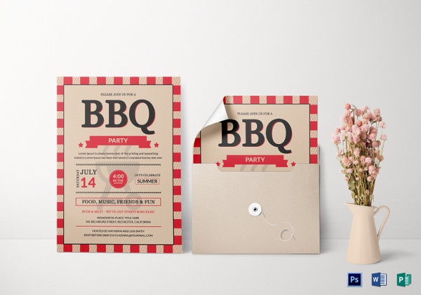 bbq party invitation card template
