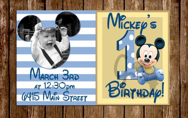 baby boy 1st birthday invitation