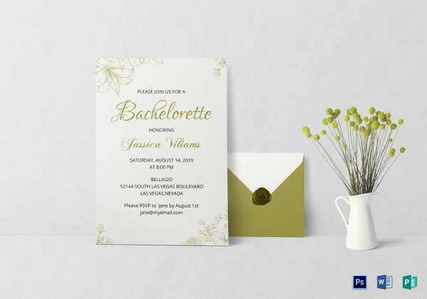 Bachelorette Party Invitation Template  Corporate Party Invitation Template