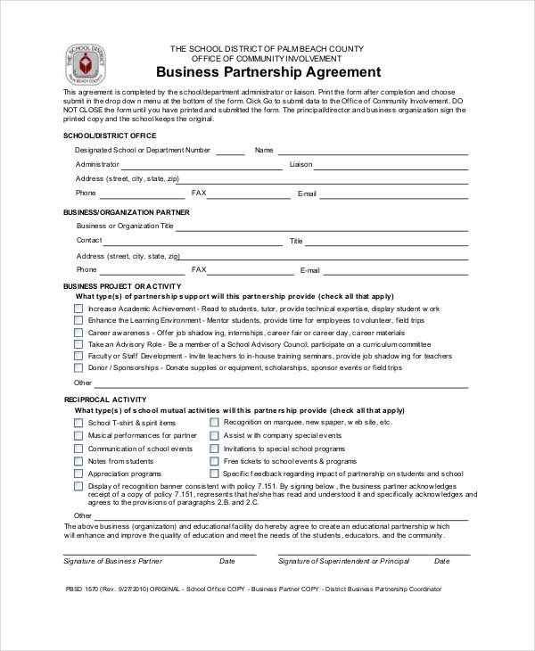 basic business partnership agreement