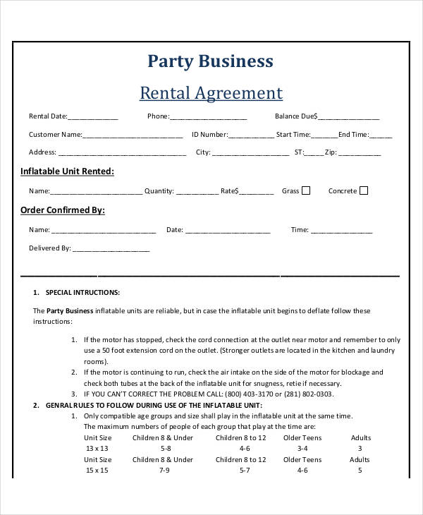 basic business rental agreement