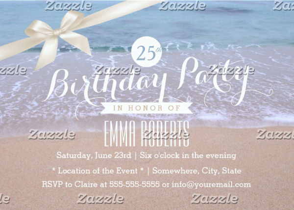 beach birthday invitation
