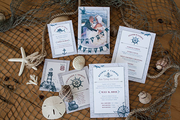 beach theme wedding card