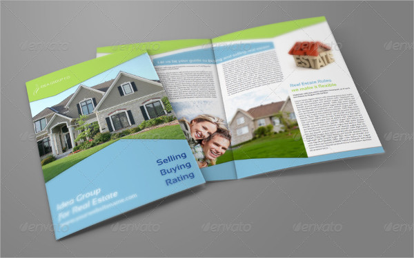 bi fold real estate company brochure