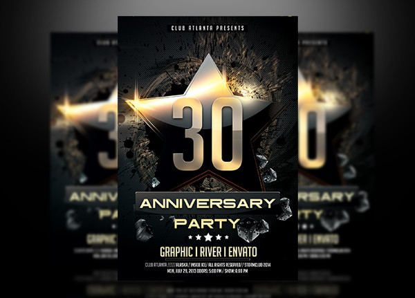 birthday anniversary flyer