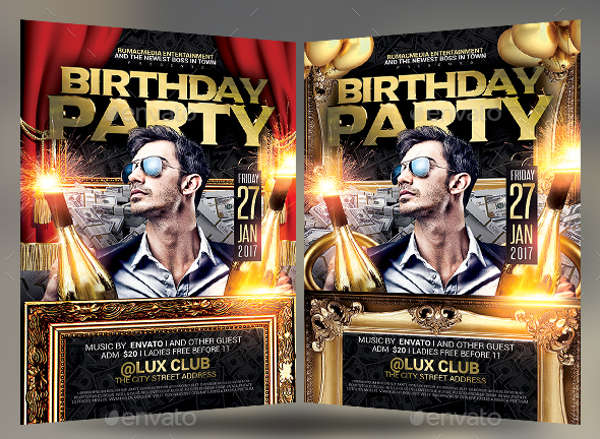 birthday anniversary party flyer