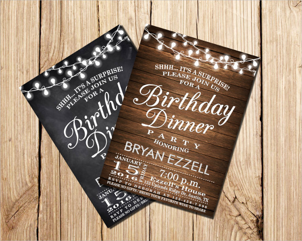 birthday dinner party invitation