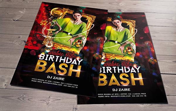 -Birthday Party Invitation Flyer