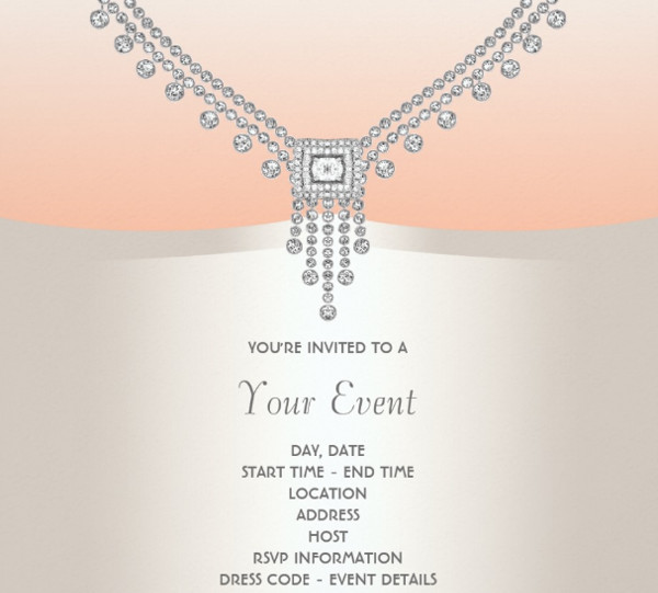 black tie formal event invitation