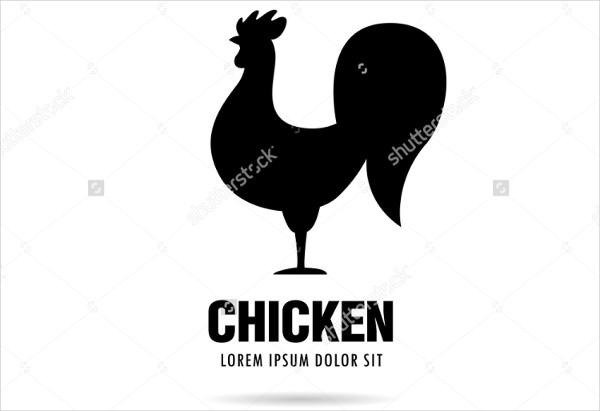black and white chicken restaurant logo