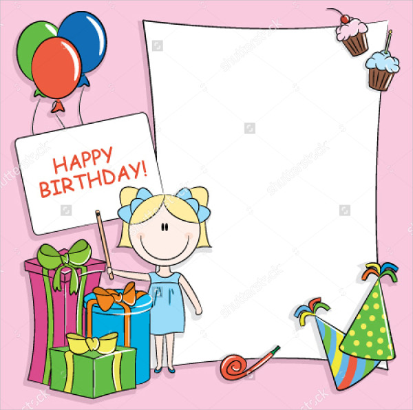 blank birthday greeting card
