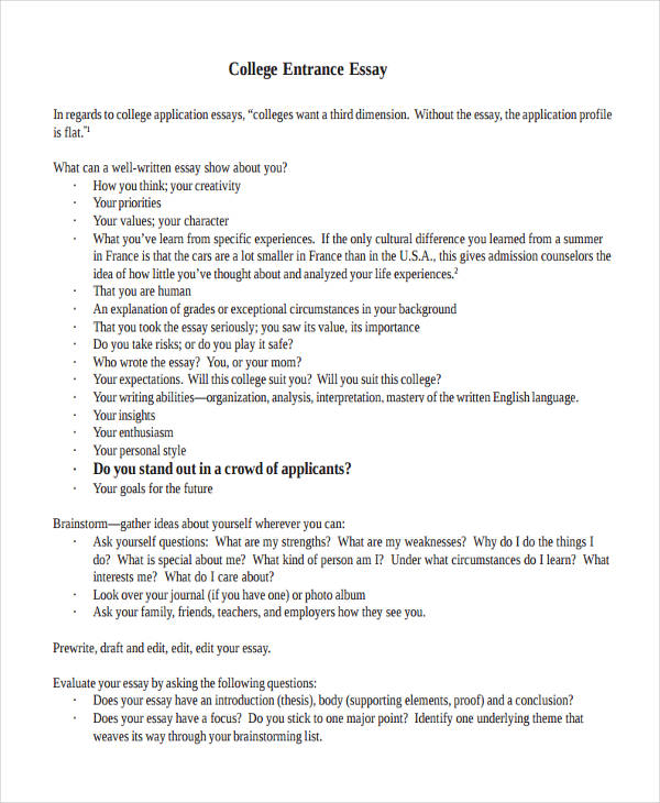 entrance essays college essay Need to write a college application essay check out these resources and sample essays -- designed to help you write a successful application essay.