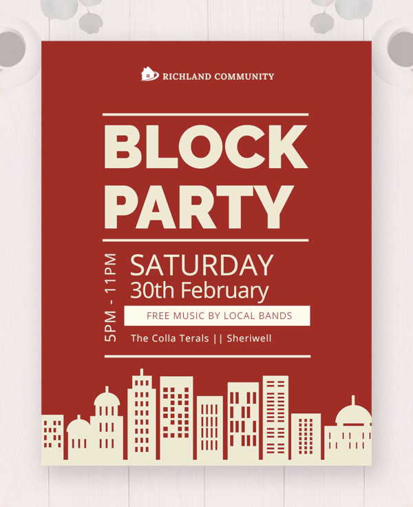 block party flyer template1