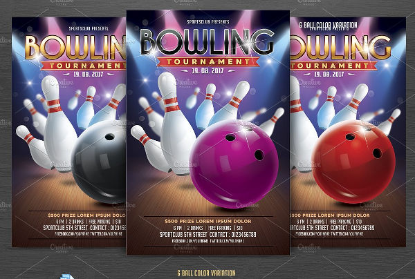 bowling sports flyer