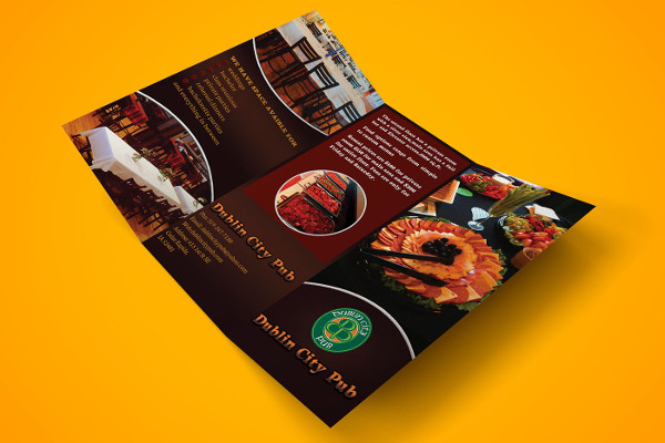 branding restaurant brochure